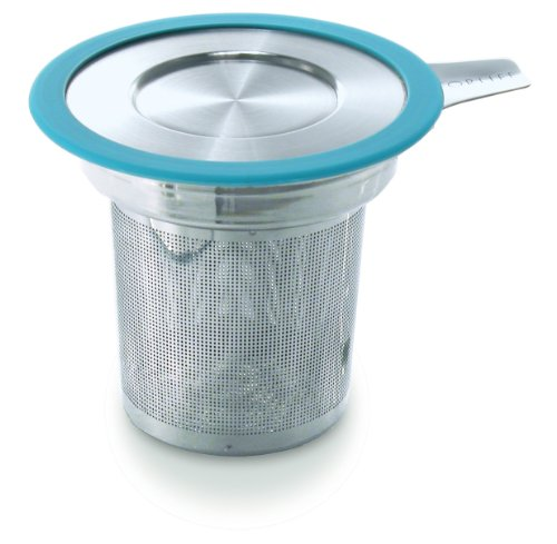 Buy Cheap Brew-in-Mug Extra-Fine Tea Infuser with Lid, Turquoise