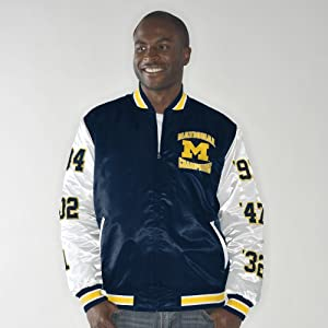 Michigan Wolverines Up the Gut NCAA Champs Commemorative Satin Jacket by G-III Sports