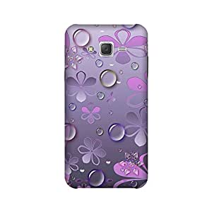 Aaranis designed Samsung Galaxy J5 2015 edition Mobile Backcover with perfect Matte Finishing flowers Graffiti & Illustrations(blue)