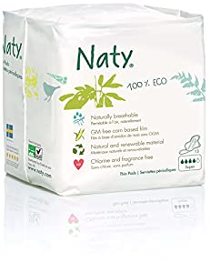 Naty by Nature Womencare Bio Sanitary Towels Extra Normal Plus - 4 x Packs of 13 (52 Sanitary Towels)