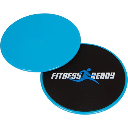 Fitness Ready Exercise Glide Discs with Storage Bag - Tone Building - Core Workout - Ab Workout (Set of 2) (Sliding Plates Workout compare prices)
