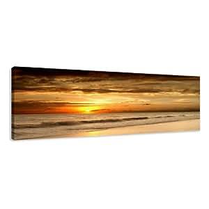 visario leinwandbilder 5703 bild auf leinwand strand 120 x 40 cm k che haushalt. Black Bedroom Furniture Sets. Home Design Ideas