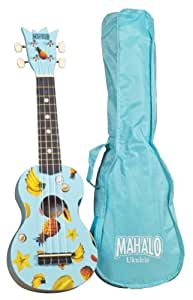 mahalo uk 30lb ukulele kit light blue musical instruments. Black Bedroom Furniture Sets. Home Design Ideas