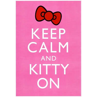 Keep Calm And Kitty On Poster - 24X36 Custom Fit With Richandframous Black 24 Inch Poster Hangers front-230154
