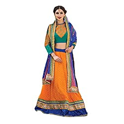 Aagaman Fashions Faux Georgette Lehenga Choli (TSN67007_Orange)