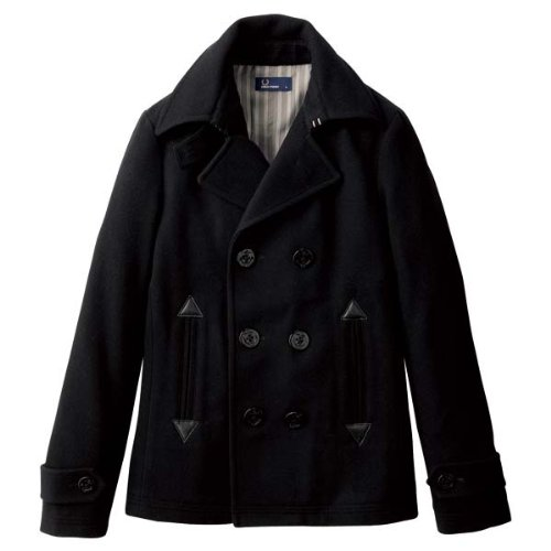 (フレッドペリー)FRED PERRY F2232 メンズ SHORT PEA COAT BLACK 07 (XL, BLACK)