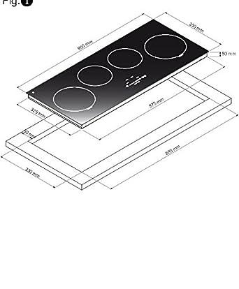 best linear ceranfeld induktion autark us184. Black Bedroom Furniture Sets. Home Design Ideas
