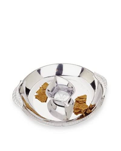 Reed & Barton Arbor Collection Chip & Dip Set, Silver As You See