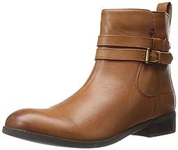 Clarks Women\'s Pita Austin Western Boot, Dark Tan Leather, 11 M US
