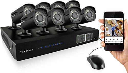 Find Cheap Amcrest 720P HD Over Analog (HDCVI) 8CH Video Security System - Eight 1.0 MP Weatherproof...