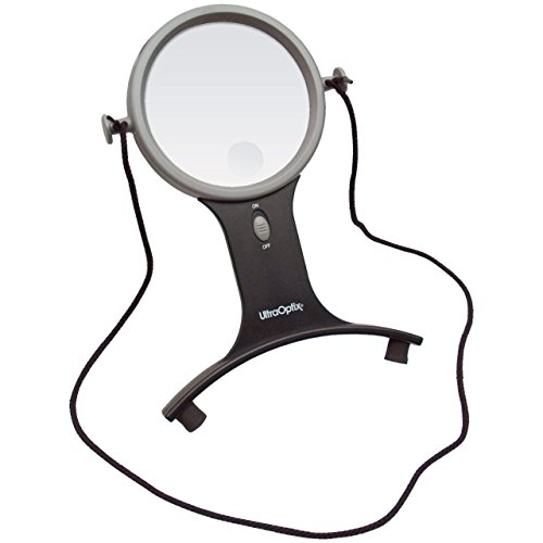UltraOptix Lighted Hands Free Magnifier 2 5x with 6x Bifocal (Magnifying Glasses Hands Free compare prices)