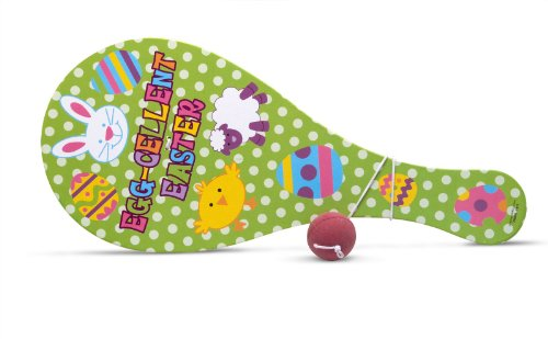 Jumbo Egg-cellent Easter Paddleball Party Accessory