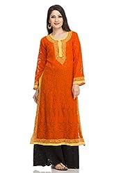 ADA Lucknowi Embroidery Ethnic Wear Casual Georgette Chikankari Kurti Kurta A104907