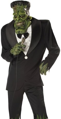 Funny Scary Mens Halloween Deluxe Frankenstein Costume One Size Fits Most (Up to 48'' Chest)