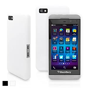 Snugg Blackberry Z10 Ultra Thin Case in White - High Quality Slim Profile Non Slip, Protective and Soft to touch for Blackberry Z10