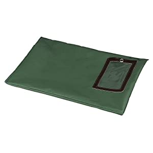 PM Company Flat Dark Green Transit Sack, 18 Inches Width x 14 Inches Height (04649)