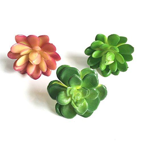 Lucky Six 3pcs Mini Artificial Succulent Plants ,Picks For Wedding ,Party,Home Decoration.