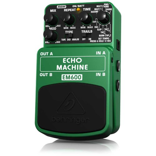 Behringer Em600 Echo Machine Ultimate Echo Modeling Effects Pedal