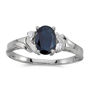 14k White Gold Oval Sapphire And Diamond Ring coupons 2015
