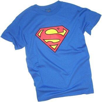 Superman Classic Shield Toddler/Juvenile T-Shirt, Royal Blue, Toddler Large (4T)