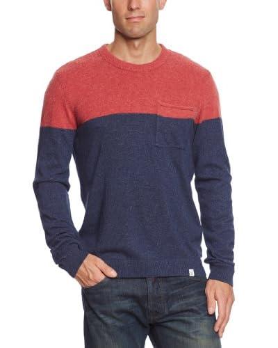 Tom Tailor Denim Pullover [Blu Navy/Rosso]