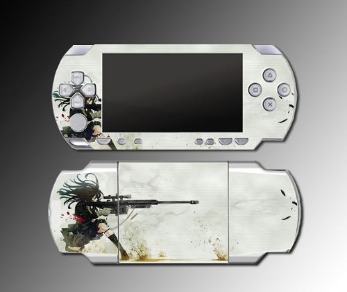 Anime Girl Cool Sniper Rifle game Decal Cover SKIN #1 for Sony PSP 1000 Playstation Portable