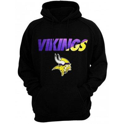 Minnesota Vikings Nike Therma Fit ko-Felpa con cappuccio, taglia M, colore: nero