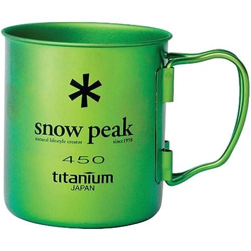 [스노우피크 머그컵] 스노우피크(snow peak) 컬러 티타늄(티탄) 싱글 머그 450 (그린)