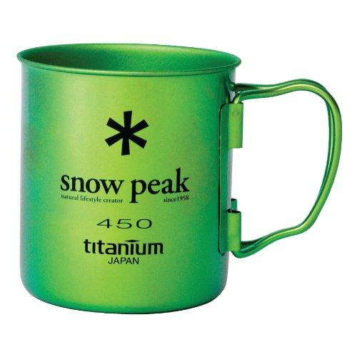 Snow Peak Ti Single Wall 450 Mug, Ocean Green (Titanium Single Wall Cup compare prices)