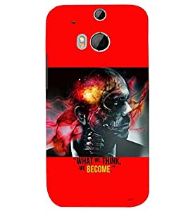 PRINTSWAG SKULL MAN Designer Back Cover Case for HTC ONE M8 EYE