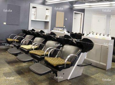 "Wallmonkeys Peel and Stick Wall Graphic - Upscale Hair Salon - 18""W x 13""H"