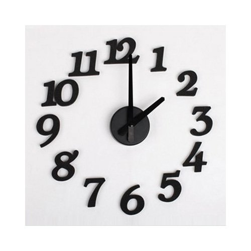 SODIAL(R) Orologio da parete digitale DIY design d'artre schiuma di spugna
