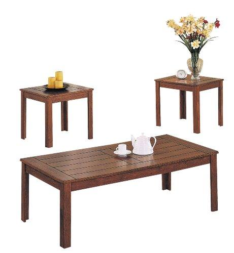 Coffee End Table Set Cherry Leg B0082A0HT4 Coffee Table Bargain