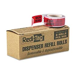 Redi-Tag - 2 Pack - Message Right Arrow Flag Refills \