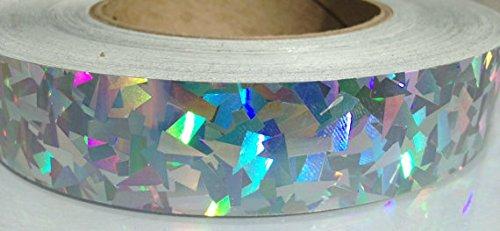 "30 ft. roll of 1"" Rainbow Kaleidoscope Metallic Hula Hoop Tape"