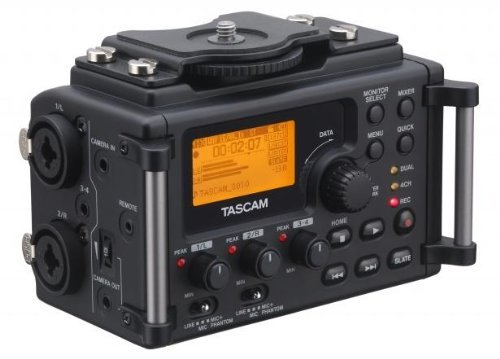 TASCAM DR DR-60D Linear PCM Recorder for DSLR Filmmaking and Field Recording