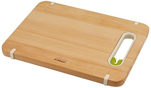 Joseph Joseph Chopping Board with Integrated Knife Sharpener, Small , Wood