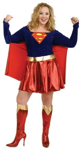 Supergirl Plus Size Halloween or Theatre Costume