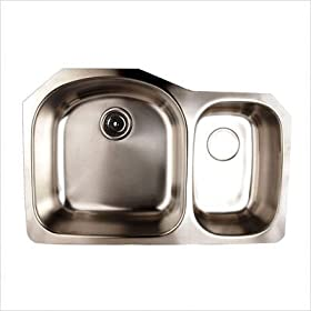 FrankeUSA UCSK800-18BX Double Bowl Undermount Sink, Stainless Steel