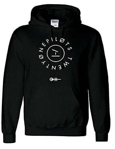 """Ispirato Twenty One Pilots Logo """"Band Top Hipster gruppo musicale Unisex con cappuccio Black S"""