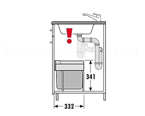 hailo 3644501 abfallsammler tr swing 50 2 30 2 fach trennung raumspar tandem s 3644 50. Black Bedroom Furniture Sets. Home Design Ideas