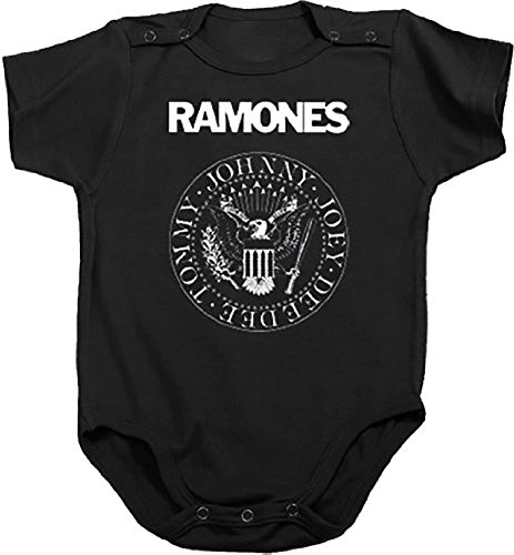 The Ramones Presidential Seal Black Snapsuit Infant Onesie Baby Romper