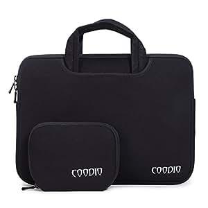 """Coodio® Universel 13.3"""" Mallette cas pouces Sacoche Etui de Protection Housse + Accessoire Bag pour ordinateur portable Apple Macbook Air 13, Macbook Pro Retina 13 (Fit most 13.3 inch ultrabook laptop) - Couleur Noir"""