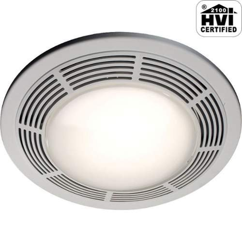 NuTone 8664RP Designer Fan and Light with Round White Grille and Glass Lens, 100 CFM 3.5 Sones (Nutone Fan And Light compare prices)