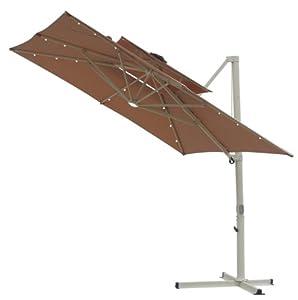 10 39 solar square double top offset umbrella