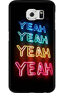 AMEZ designer printed 3d premium high quality back case cover for Samsung Galaxy S6 (yeah lights)