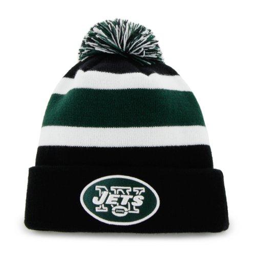 Nfl New York Jets Men'S Breakaway Knit Cap, One Size, Black front-826640