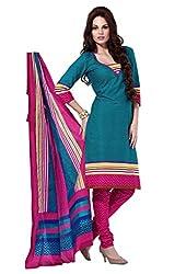 HIFI Ethnicwear Women's Dress Material(HIFI 3205_Blue_Free Size)