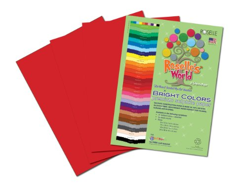 Roselle Bright Colors Suphite Construction Paper, 9 x 12 Inches, Holiday Red, 50 Sheets Per Package (74301)