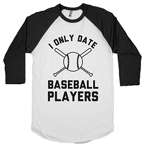 Human I Only Date Baseball White / Black Small Baseball Tee